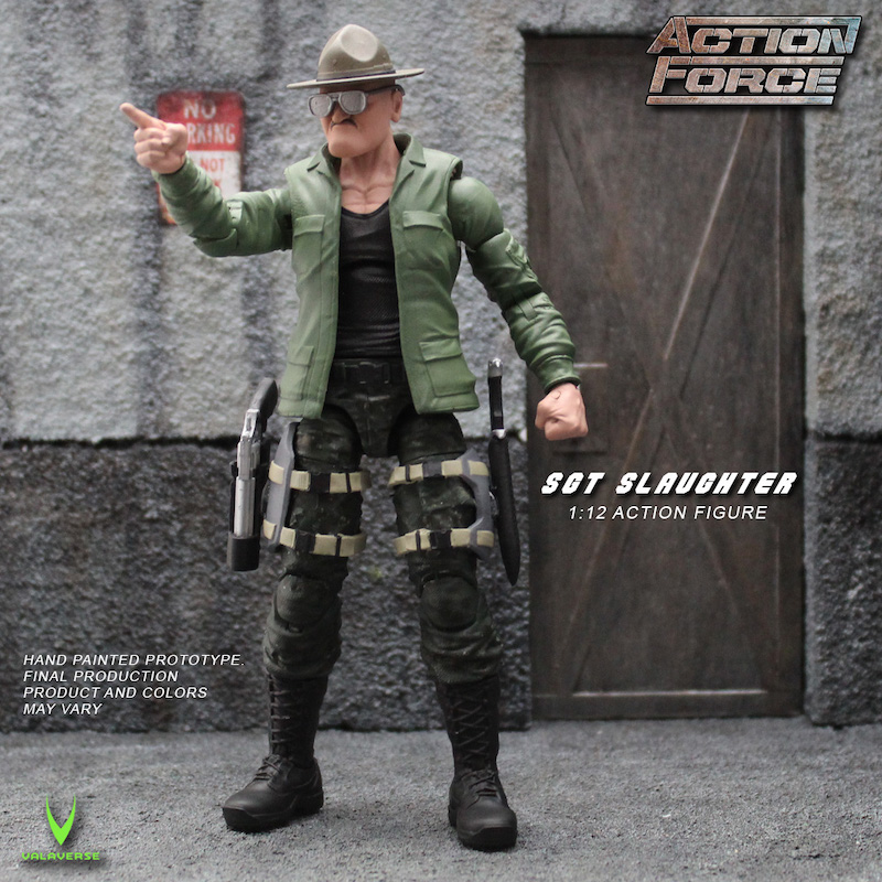 Valaverse – Sgt. Slaughter Joins The Action Force Line – Updated With Pre-Order Details