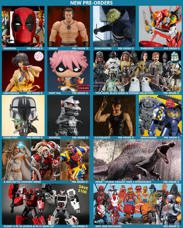BigBadToyStore – Deadpool, Conan, Leatherface, Dorohedoro, Evangelion, Star Wars, Godzilla, X-Men & More