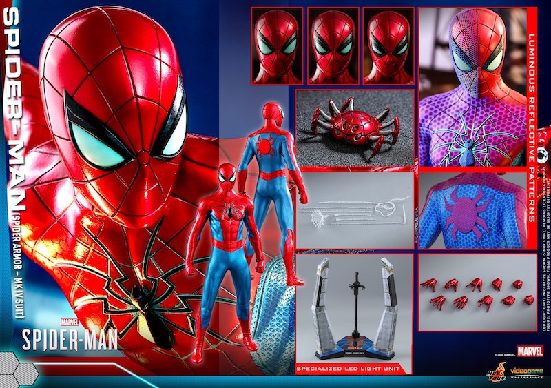Hot Toys Marvel's Playstation 4 Spider-Man – Spider Armor MK IV Suit Figure Pre-Orders