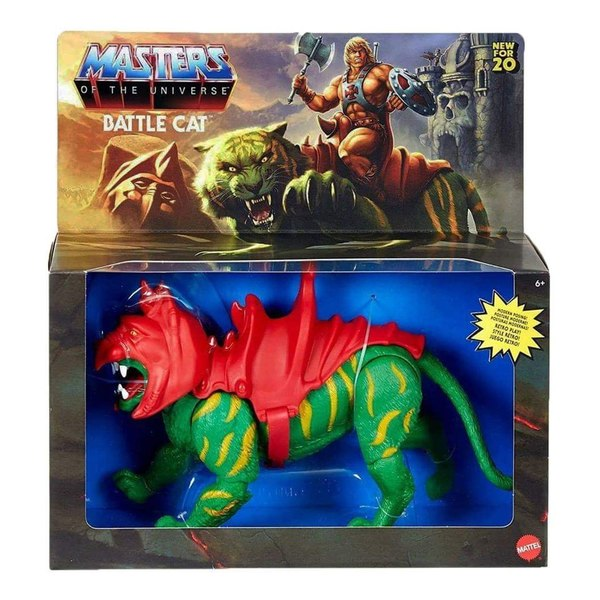 Mattel – Masters Of The Universe Origins Battle Cat, He-Man & More Figures In-Packaging