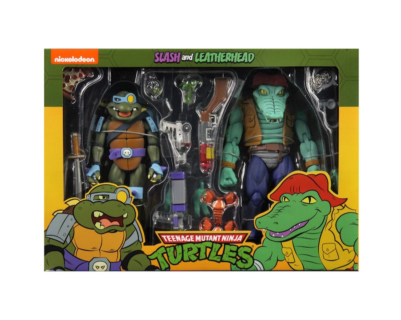 NECA Toys Teenage Mutant Ninja Turtles Cartoon Bebop & Rocksteady, Leatherhead & Slash Pre-Orders