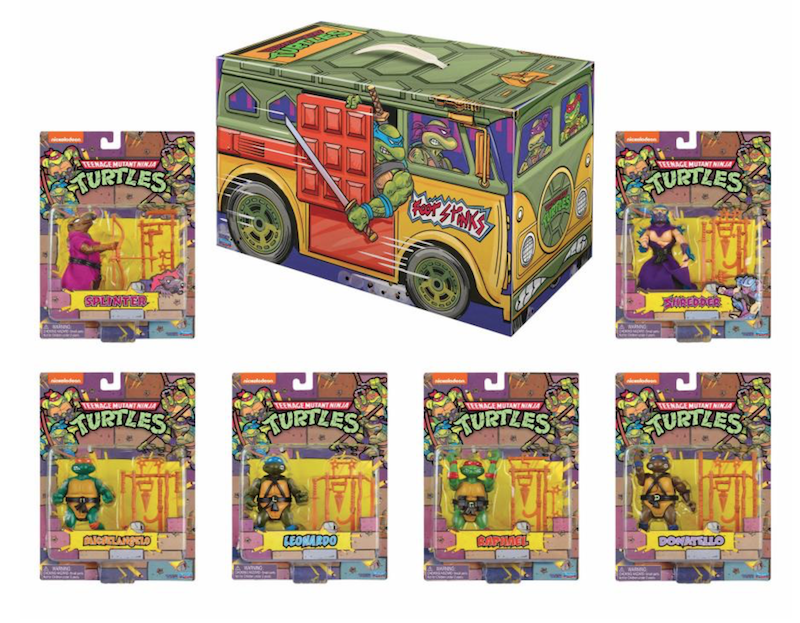 Playmates Toys SDCC 2020 Exclusive – Teenage Mutant Ninja Turtles Retro Figure Box Set