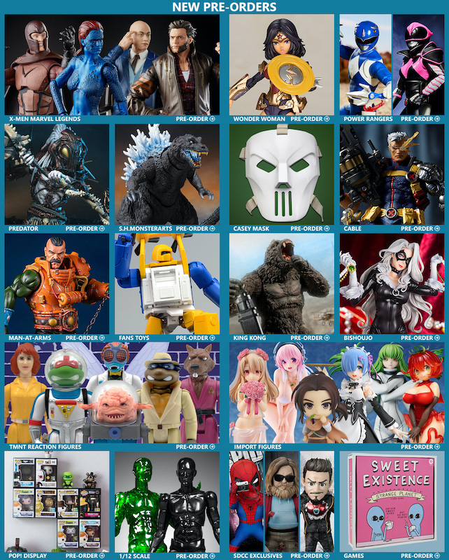 BigBadToyStore News – X-Men, MOTU, LotR, Wonder Woman, King Kong, Godzilla, Cable, Power Rangers, TMNT & More