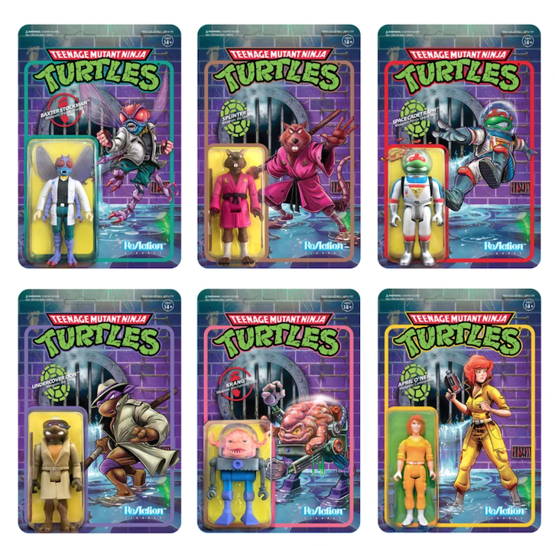 Super7 – Teenage Mutant Ninja Turtles ReAction Wave 3 Figures Available Now