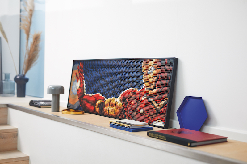 LEGO Iron Man Wall Art Construction Set Available Starting August 1st