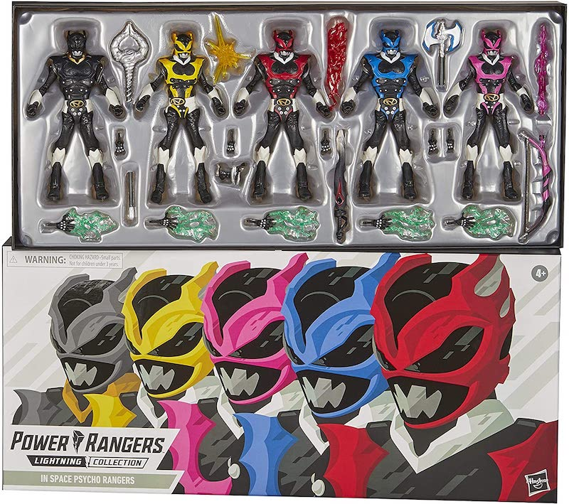 Hasbro Power Rangers Lightning Collection Space Psycho Rangers Box Set In-Stock On Amazon