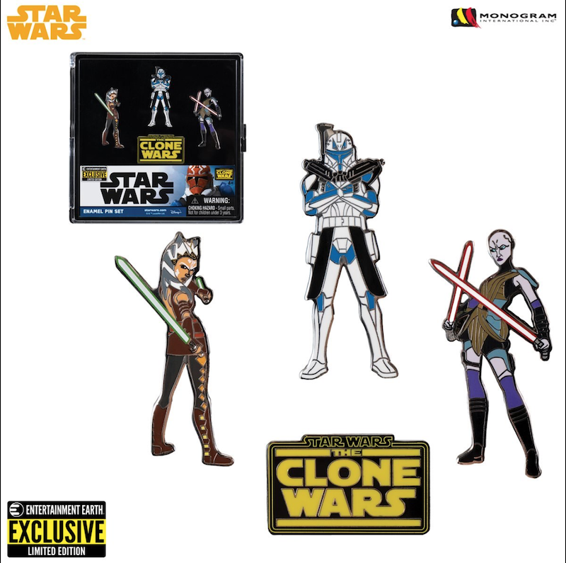 Entertainment Earth San Diego Comic-Con 2020 Exclusive – Star Wars: The Clone Wars Enamel Pin Set