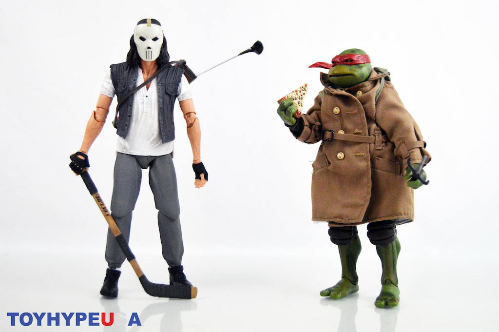 NECA Toys Teenage Mutant Ninja Turtles Movie Casey Jones & Raphael In Disguise Figure Review