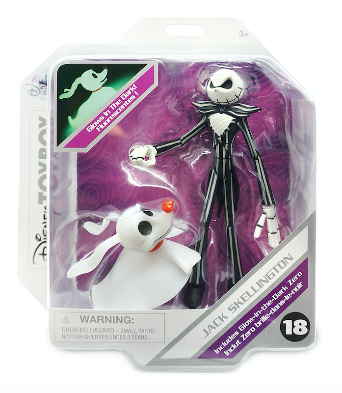 Disney Store Exclusive – Disney Toy Box Jack Skellington Action Figure With Zero Set