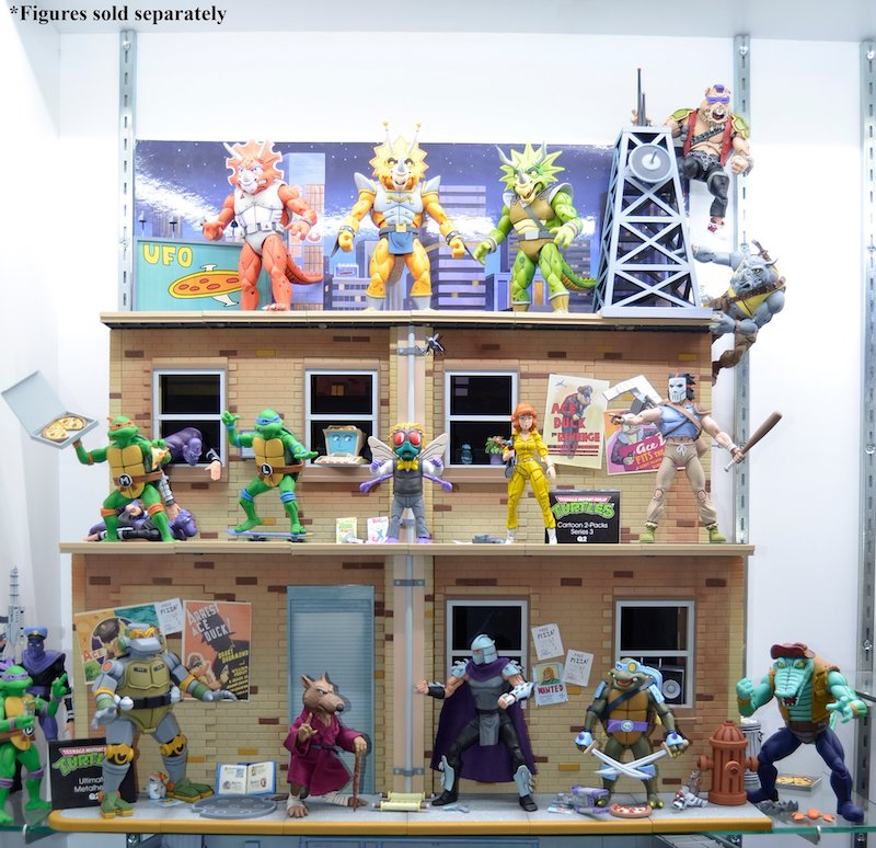 NECA Toys Teenage Mutant Ninja Turtles Cartoon Series Street Diorama