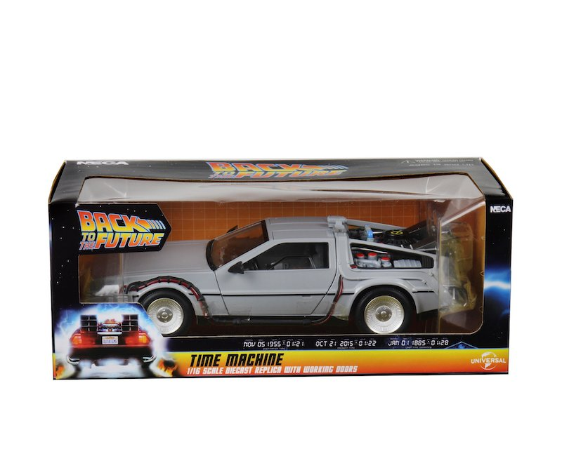 NECA Toys Back to the Future 6″ Diecast DeLorean Time Machine In-Packaging