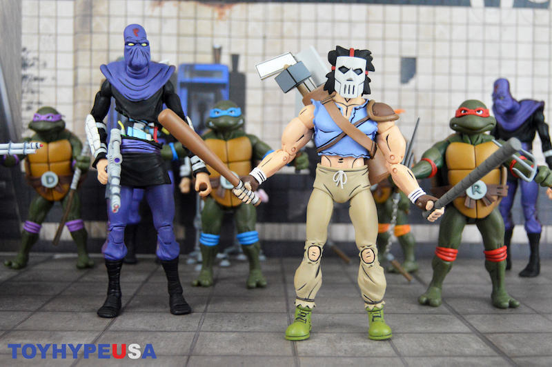 NECA Toys Teenage Mutant Ninja Turtles Cartoon 2-Packs Wave 3 Casey Jones & Slashed Foot Soldier Review