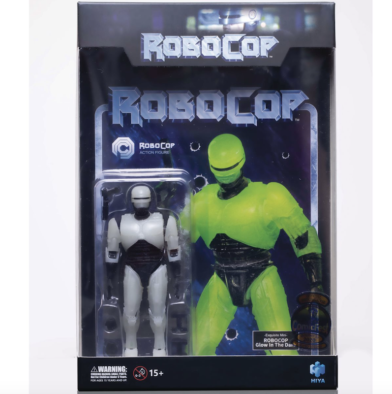 Why Go To Halloween Comic Fest 2020 Reviews Hiya Toys   RoboCop Glow In The Dark 1:18 Scale   Halloween Comic