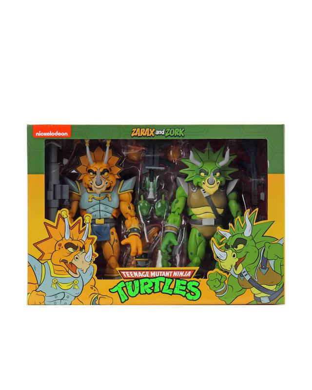 NECA Toys Teenage Mutant Ninja Turtles Classics Wave 4 – Zarax & Zork 2-Pack Figures In-Packaging
