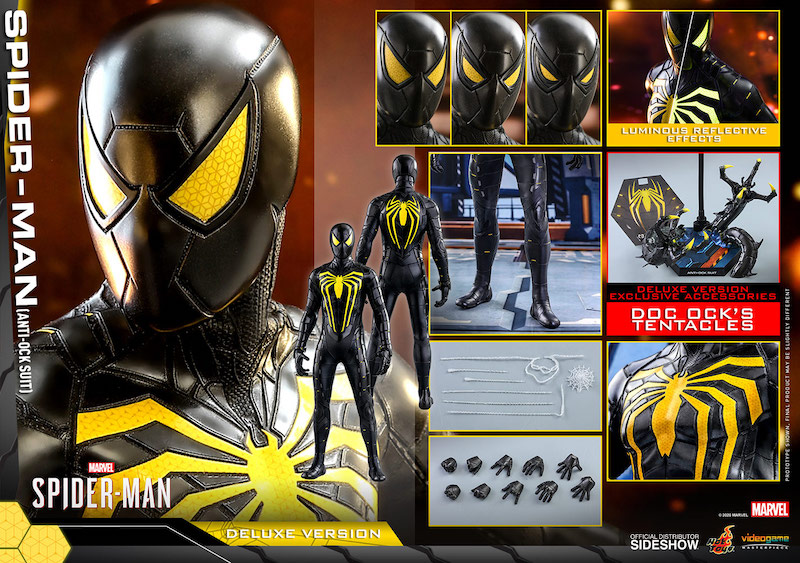 Hot Toys Spider-Man (Anti-Ock Suit) Deluxe Sixth Scale Figure Pre-Orders