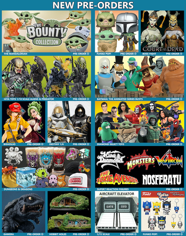 BigBadToyStore News – The Mandalorian, Alien, Predator, Bishoujo, Court of the Dead, Transformers, Godzilla & More