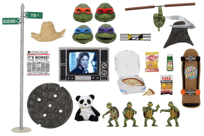 NECA Toys Teenage Mutant Ninja Turtles 1990 Movie Accessory Pack