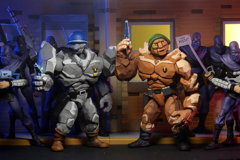 NECA Toys Teenage Mutant Ninja Turtles Cartoon Series Traag & Granitor – New Figure Images