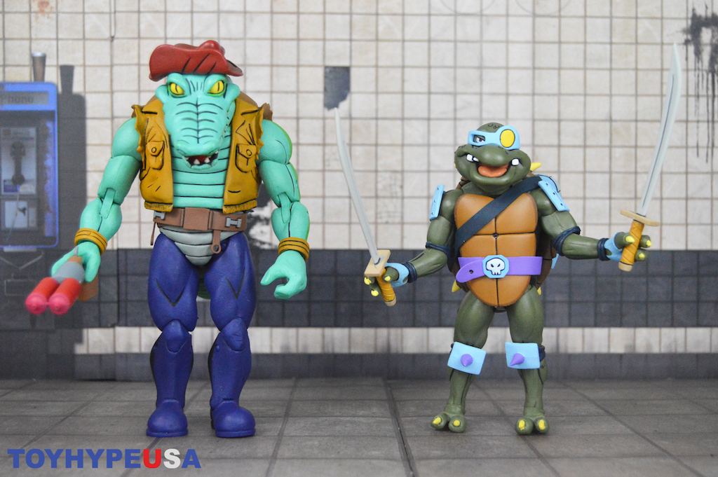 NECA Toys Teenage Mutant Ninja Turtles Cartoon 2-Packs Wave 3 Slash & Leatherhead Figures Review