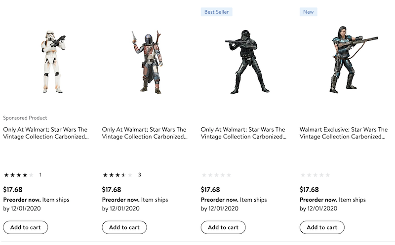 Hasbro Star Wars – The Vintage Collection The Mandalorian Carbonized Figure Pre-Orders At Wal-Mart