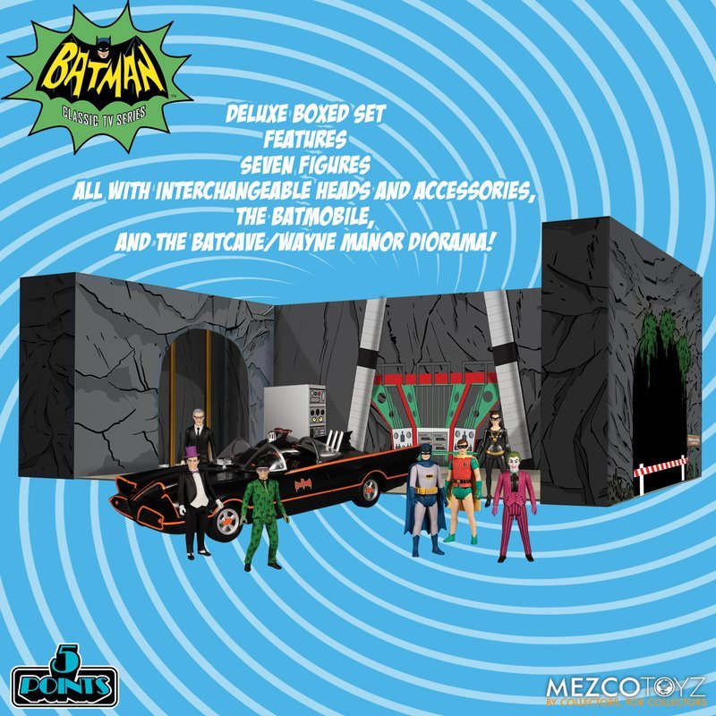 Mezco Toyz – 5 Points Batman 1966 Deluxe Boxed Set Pre-Orders