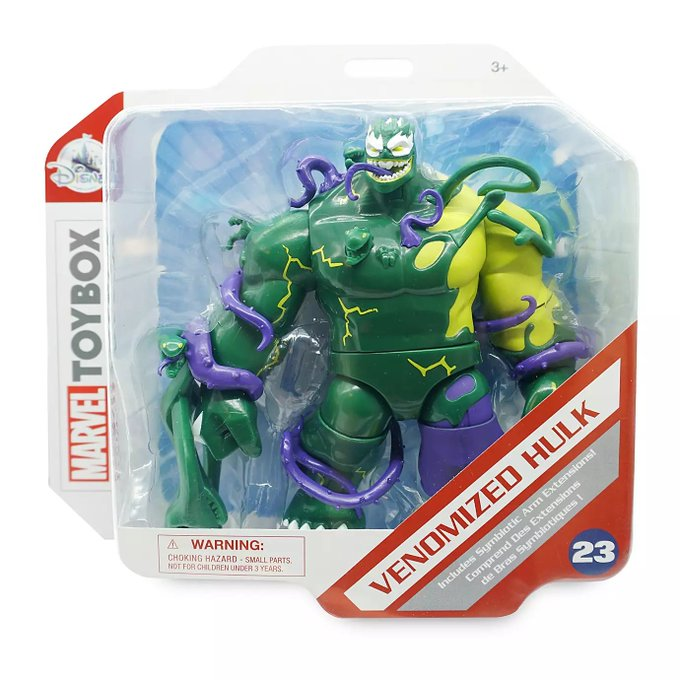 Disney Store Exclusive – Marvel Toy Box Venomized Hulk, Venomized Spider-Man, & Ghost Spider