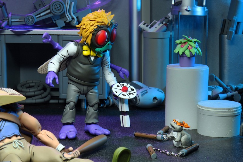 NECA Toys Teenage Mutant Ninja Turtles Cartoon Baxter Stockman & Splinter – New Figure Images