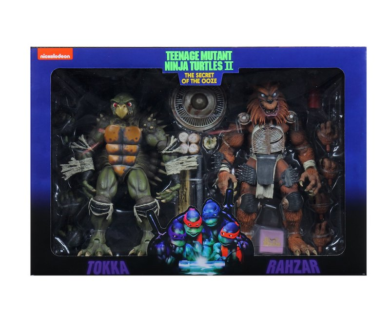 NECA Toys Teenage Mutant Ninja Turtles II: The Secret of the Ooze – Tokka & Rahzar Figures In-Packaging