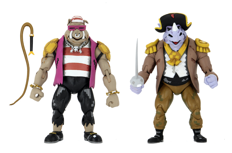 NECA Toys Teenage Mutant Ninja Turtles: Turtles In Time Pirate Rocksteady, Bebop & Baxter Stockman Figures
