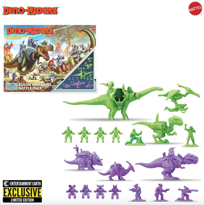 Dino-Riders Rulon Warriors Battle Pack – Entertainment Earth Exclusive Pre-Orders