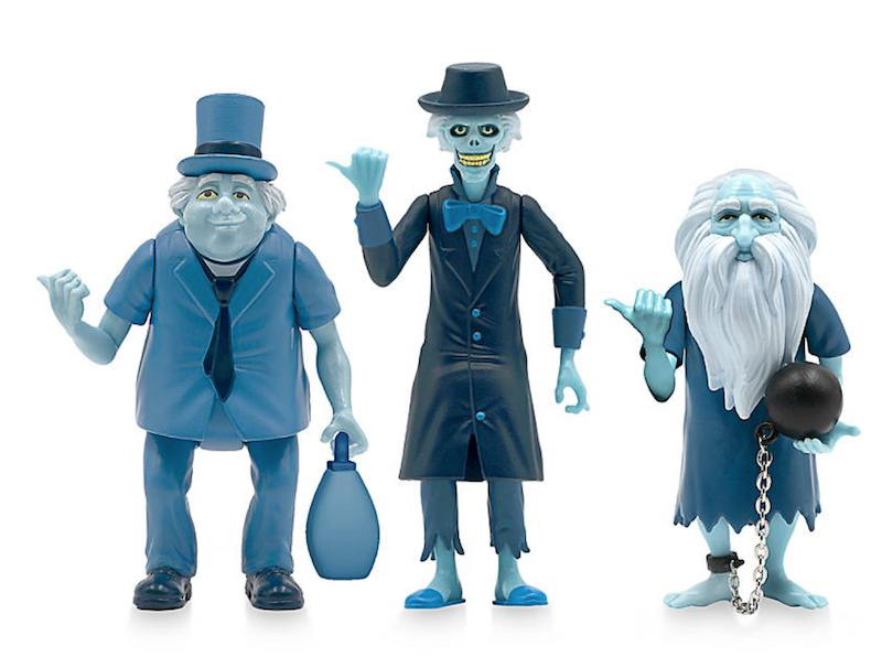 Disney Store Exclusive – Super7 The Haunted Mansion Hitchhiking Ghosts ReAction Figure Set