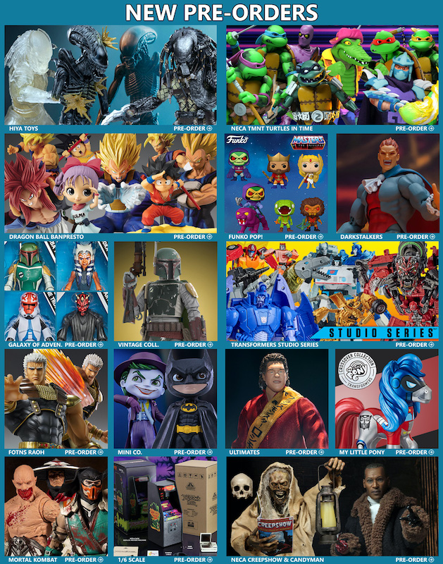 BigBadToyStore News – Alien, Predator, TMNT, MOTU, Dragon Ball, Darkstalkers, Star Wars, Transformers, Mortal Kombat & More