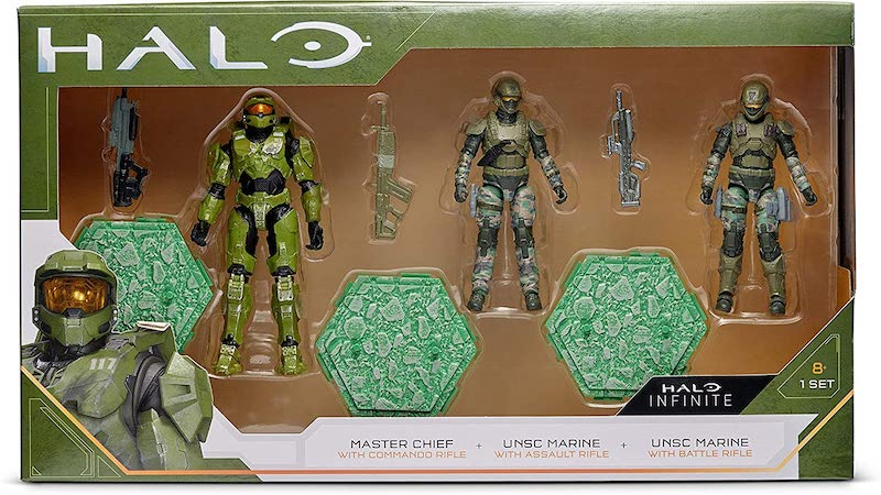 Jazwares Halo – 3.75″ Master Chief & UNSC Marines 3-Pack Pre-Orders