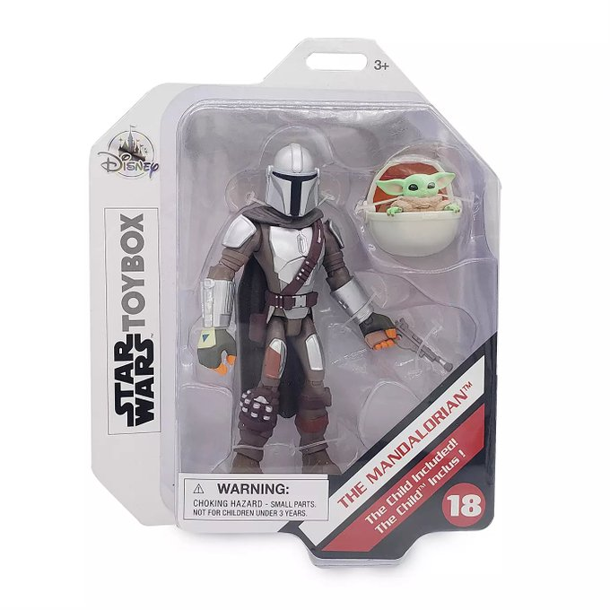 Disney Store Exclusive – Star Wars Toy Box The Mandalorian With Child Figure Available Now