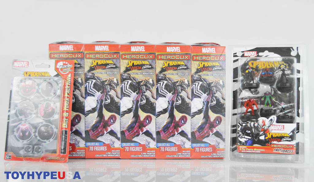 Wizkids – Marvel Heroclix Spider-Man and Venom Absolute Carnage Booster Brick Video Unboxing & Review