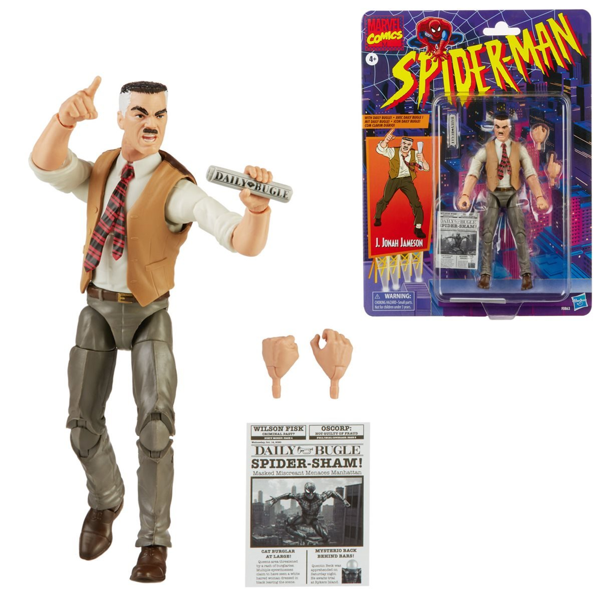Hasbro Marvel Legends Spider-Man: The Animated Series J. Jonah Jameson Figure Pre-Orders