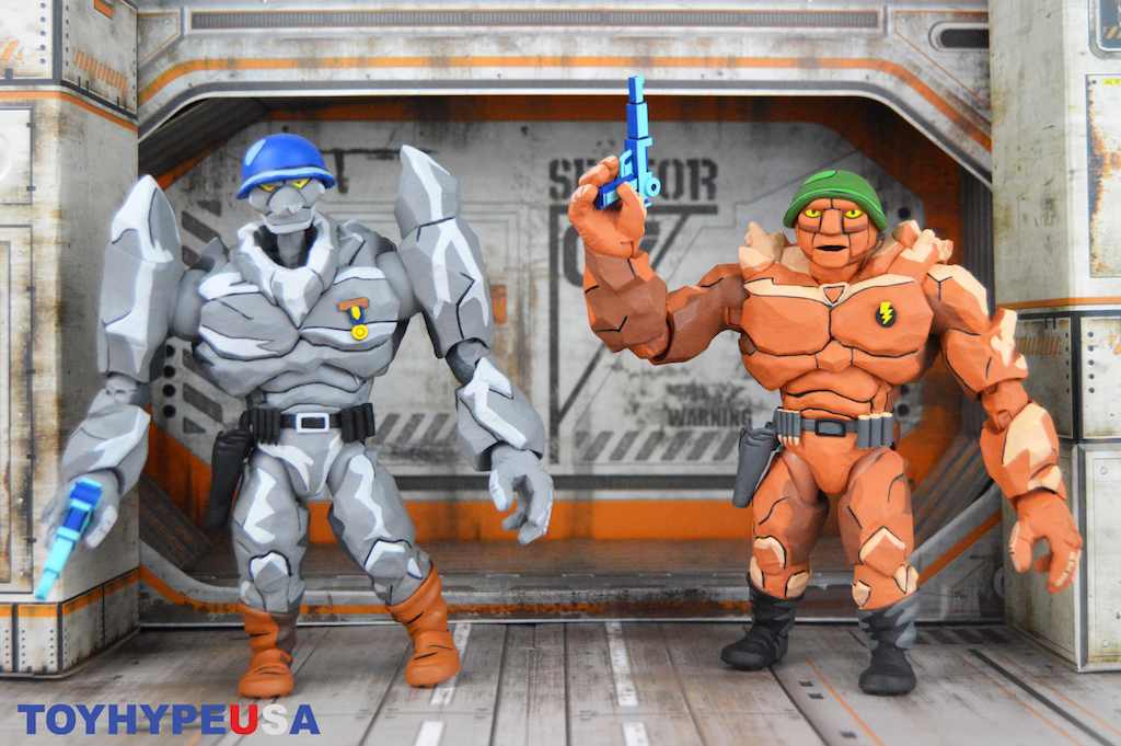 NECA Toys Teenage Mutant Ninja Turtles Cartoon Series Traag & Granitor Figures Review