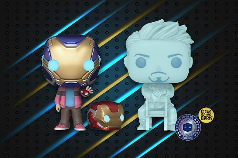 Pop In A Box – Funko Marvel Morgan & Hologram Tony Stark with Helmet Pop! Vinyl 2 Pack