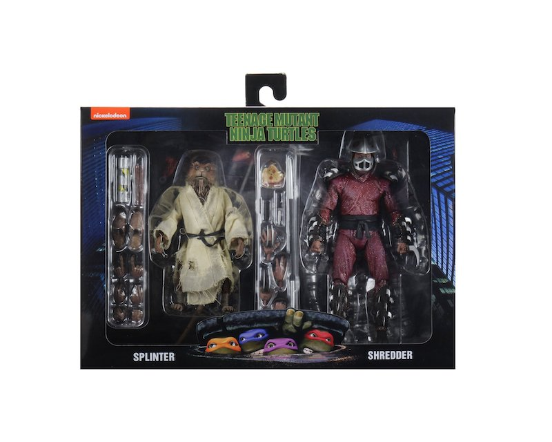 NECA Toys Teenage Mutant Ninja Turtles 1990 Movie – Splinter & Shredder 2-Pack In-Packaging