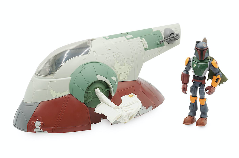 Disney Store Exclusive – Mickey & Friends, Boba Fett & Slave 1, Spider-Man & Zurg's Lair Toy Box Figures