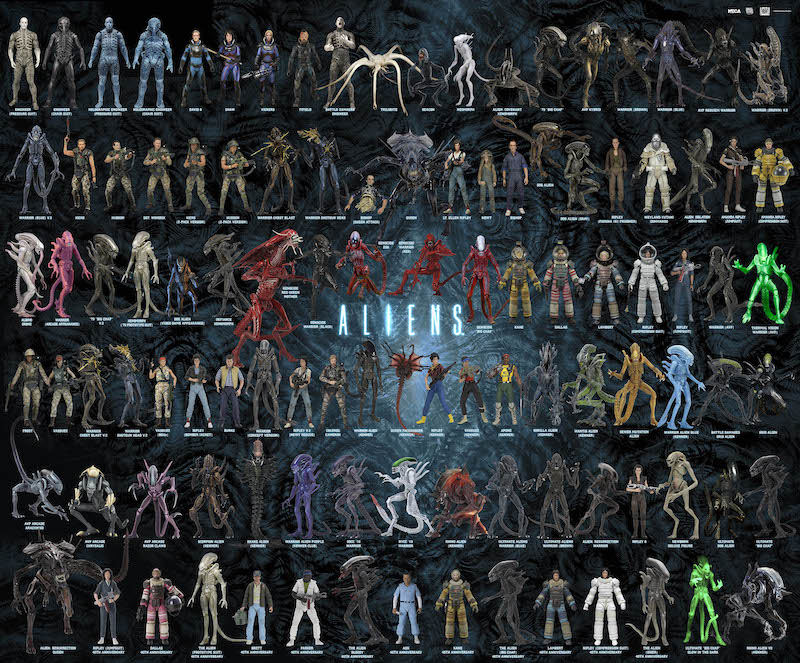 NECA Toys Alien 2020 Visual Guide