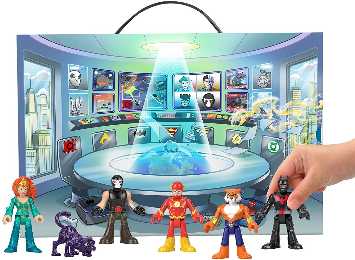 Fisher-Price Imaginext DC Super Friends Mystery Playcase Set Of 6 Figures