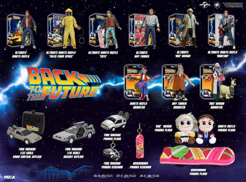 NECA Toys Back To The Future Visual Guide