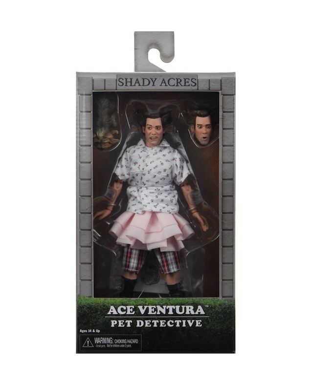 NECA Toys Ace Ventura: Pet Detective – Shady Acres Ace Ventura 8″ Clothed Figure In-Packaging