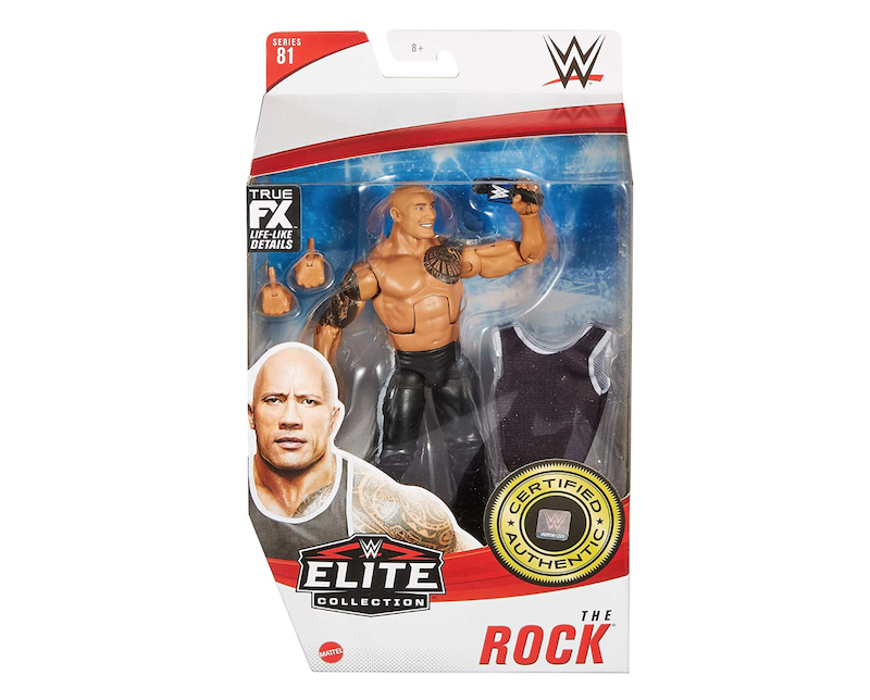 Mattel WWE Elite Collection Series #81 The Rock Figure In-Stock On Amazon