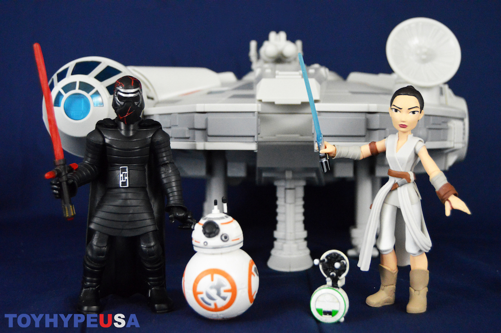 Disney Store Exclusive – Star Wars Toy Box – New Millennium Falcon, Kylo Ren & Rey Figures Review