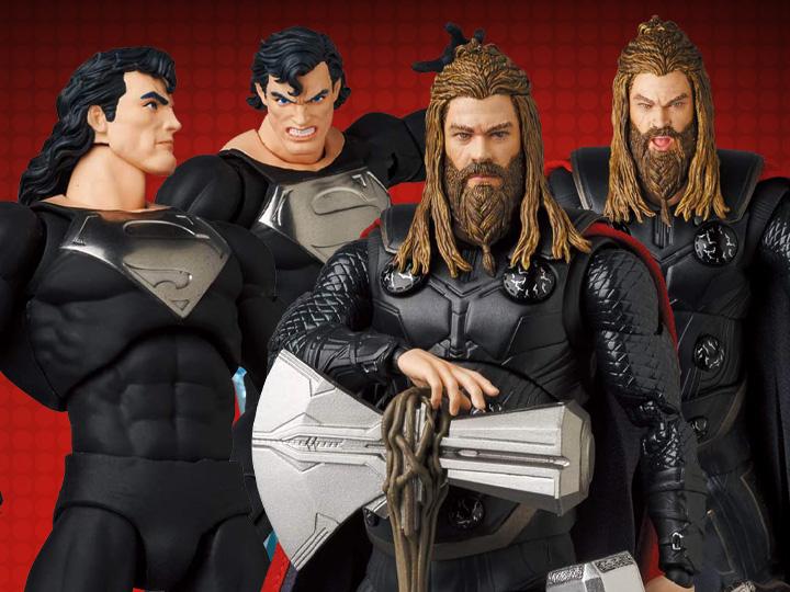 Medicom – MAFEX Black Suit Superman & Thor Figure Pre-Orders