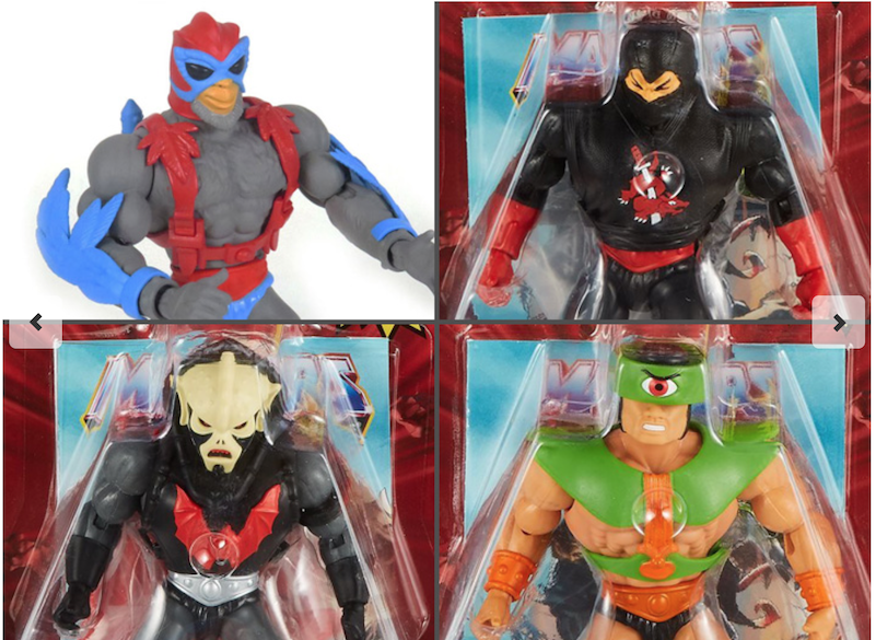 Mattel – Masters Of The Universe Origins Hordak, Ninjor & Tri-Klops Figures In-Packaging