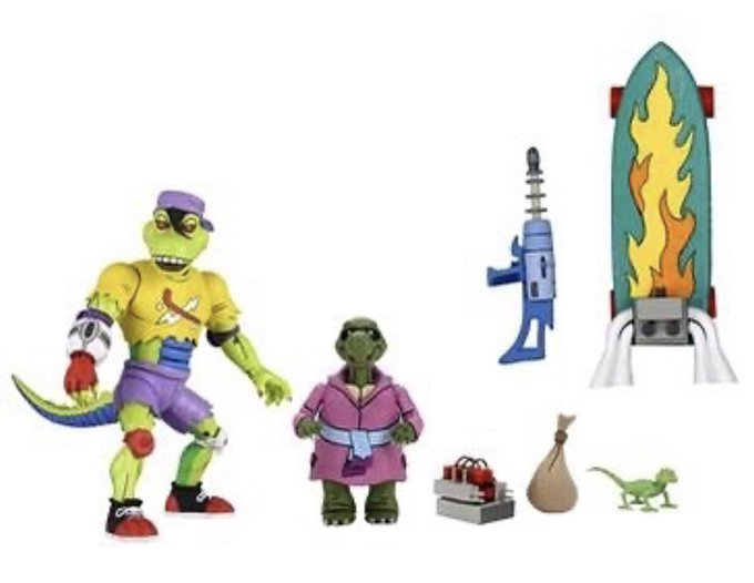 Zavvi – NECA Toys Teenage Mutant Ninja Turtles Classic Cartoon Krang, Rocksteady & Bebop, Mutant Shredder, Mondo Gecko, Muckman & More