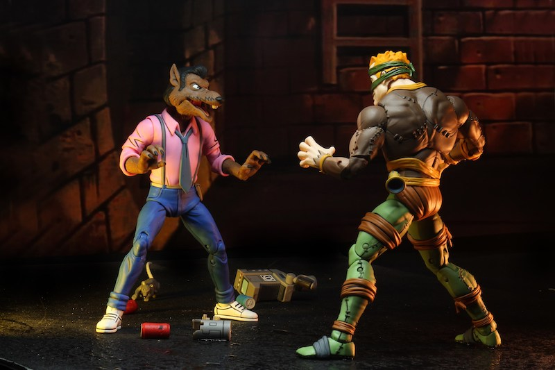 NECA Toys Teenage Mutant Ninja Turtles Rat King & Vernon 2 Pack New Figure Images
